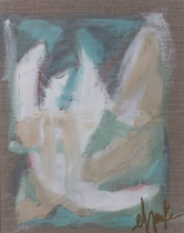 """SOLD. Pastel Palette (Set of 4). Acrylic on Linen Canvas with nail-head accents on the profile of the canvas. UV Protective Coating. 14""""x11"""" each. $125 each, or $450 for the set of (4)"""