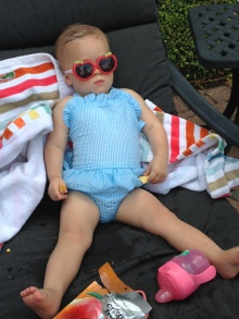 Anne Helen at the Pool 6-21-14