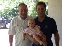 3 Generations of Hawkes! Bubba, Harrison and Anne Helen