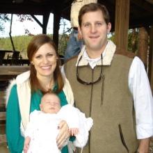 Anne Helen's First Thanksgiving. Putnam, AL 1 month old