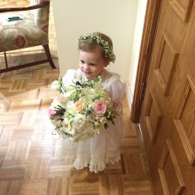 Flower Girl for Aunt Addie and Uncle Drew's Wedding! 3.14.15