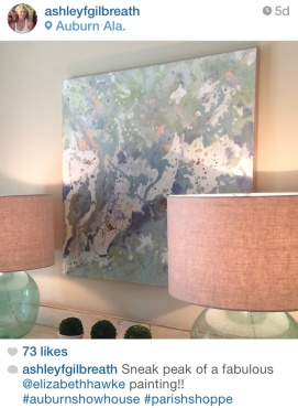 "Sneak Peak of one piece found at the Auburn Showhouse. ""Tranquility"""