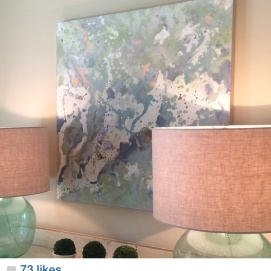 """Sneak Peak of one piece found at the Auburn Showhouse. """"Tranquility"""""""